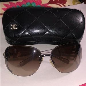 Chanel Crystal Camellia sunglasses